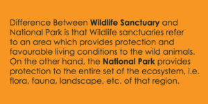 Wildlife Sanctuary and National Park